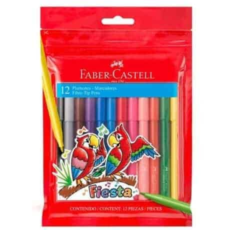 marcadores faber castell fiesta 12 colores