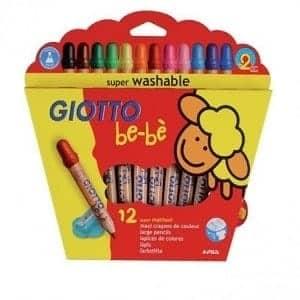 lapices giotto bebe 12 colores + sacapunta