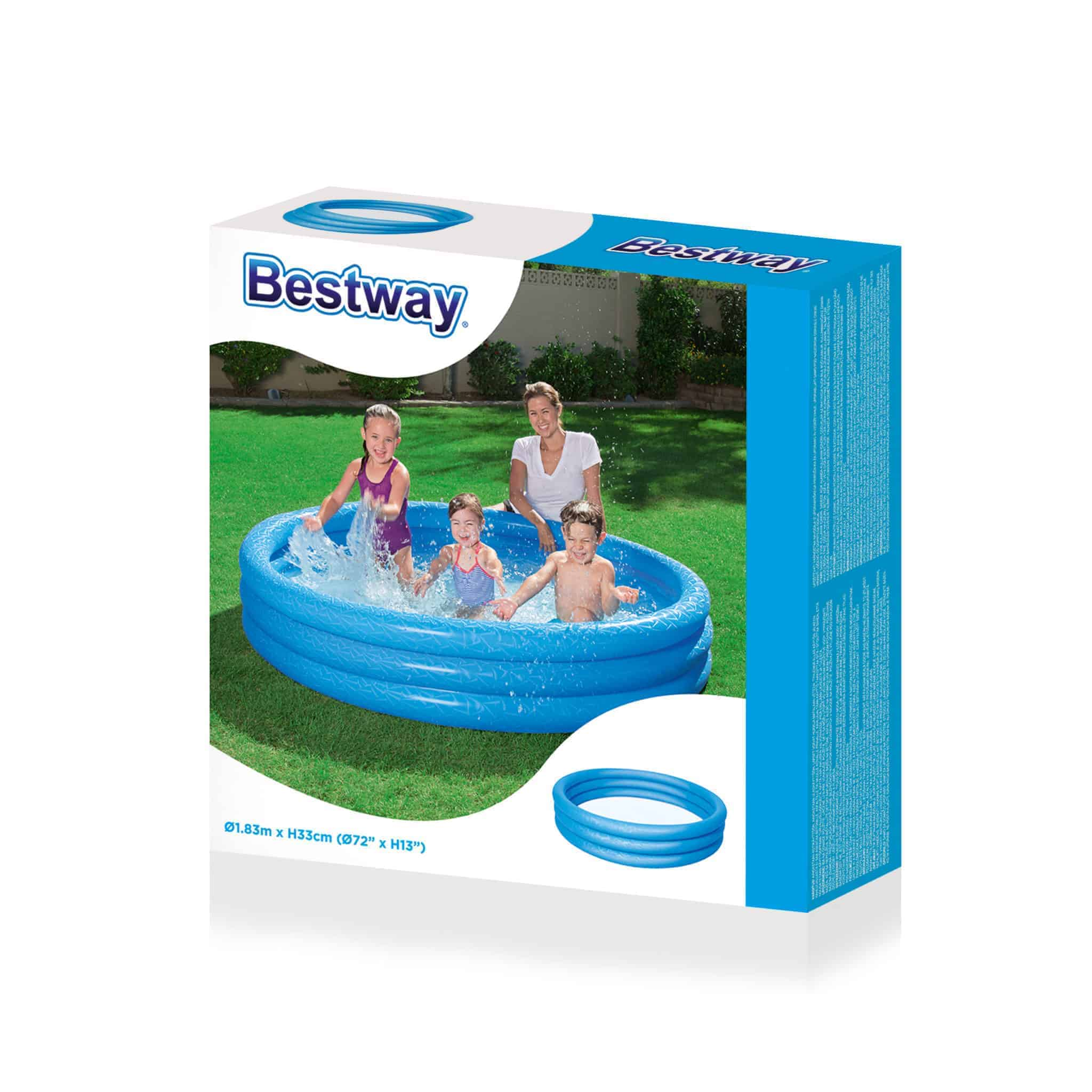 Piscina inflable bestway 3 aros 183 x 33 cms librer a elim for Piscina inflable bestway