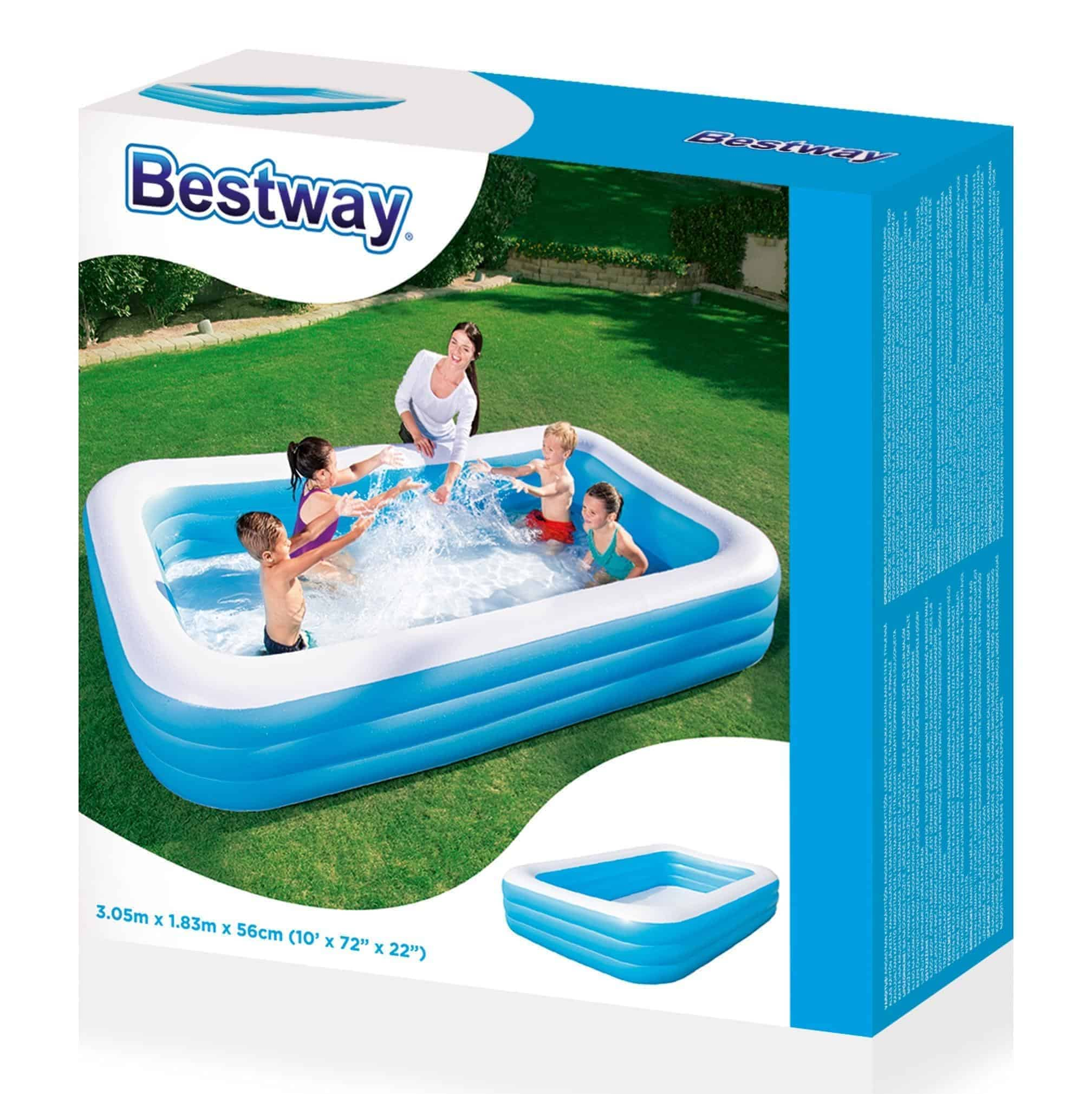 Piscina inflable bestway rectangular libreria elim for Piscina inflable bestway