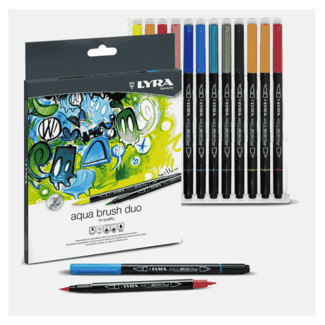 lyra aqua brush duo 12 colores
