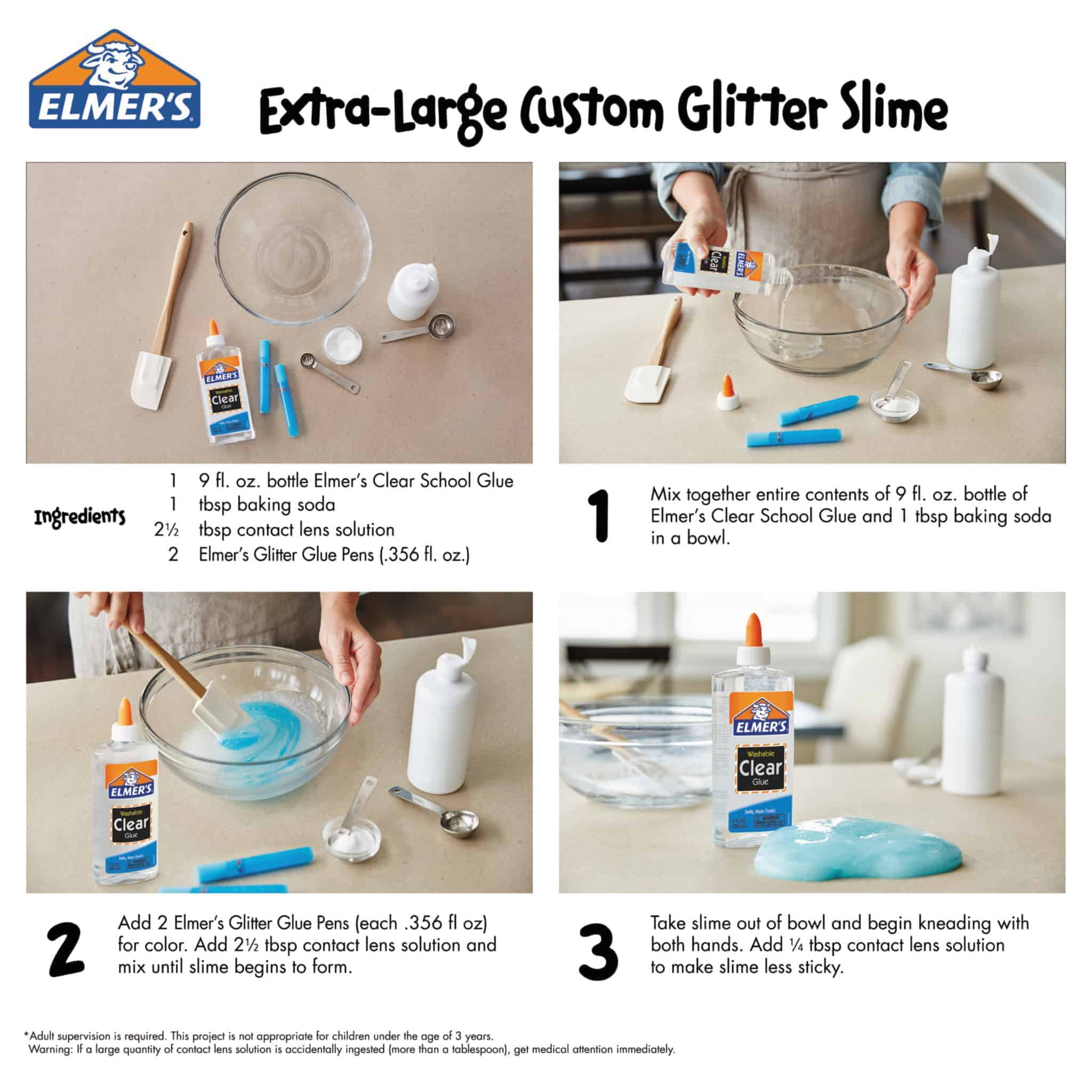 How to make slime with elmers clear glue and baking soda