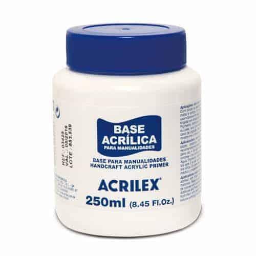 base acrilica para manualidades acrilex - libreria elim