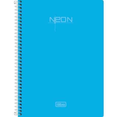Cuaderno universitario celeste neon 100 hojas con elastico tilibra - libreria elim