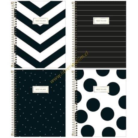 cuaderno class west village tilibra 100 hojas tapa dura 4 modelos - libreria elim