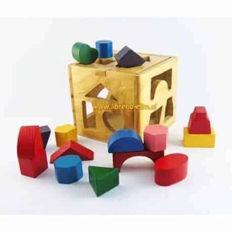 cubo madera encaje 17 piezas