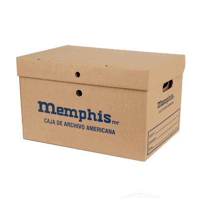 caja archivo americana memphis - libreria elim