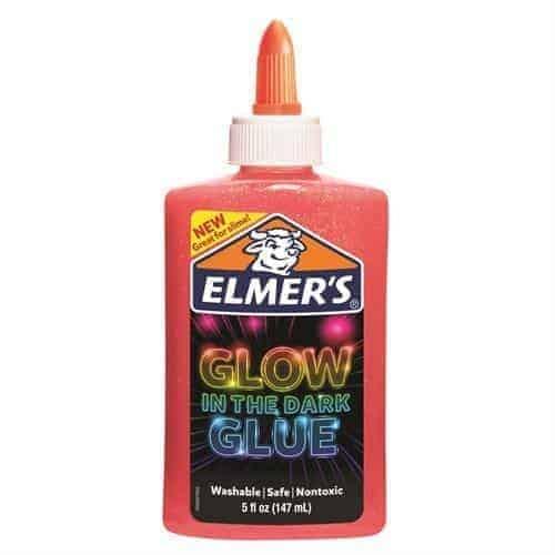 elmers glow in the dark PINK - PEGAMENTO QUE BRILLA EN LA OSCURIDAD - LIBRERIA ELIM