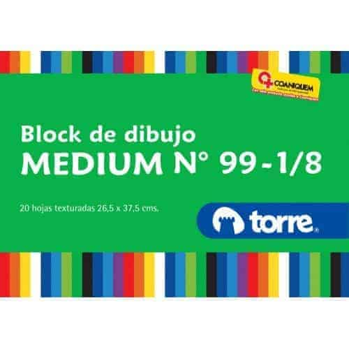 BLOCK DIBUJO MEDIUM TORRE IMAGIA Nº 99 1/8