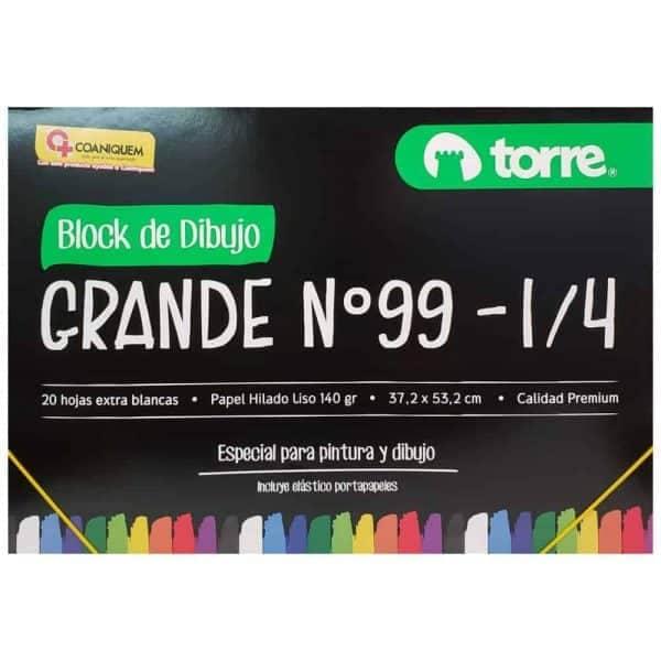BLOCK DE DIBUJO G-99 1/4 DOBLE FAZ TORRE IMAGIA