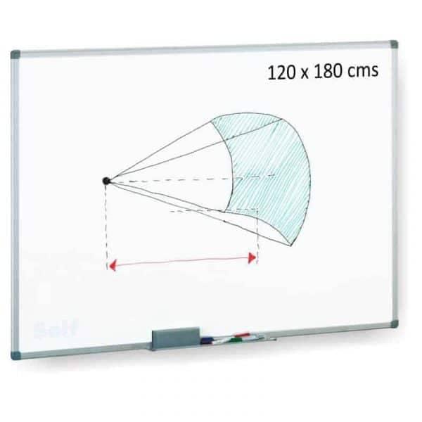 pizarra acrilica 120x180 cm. blanca magnetica - libreria elim