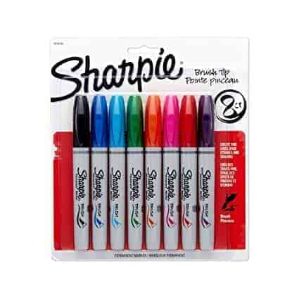 Sharpie brush pen set 8 colores punta pincel - libreria elim