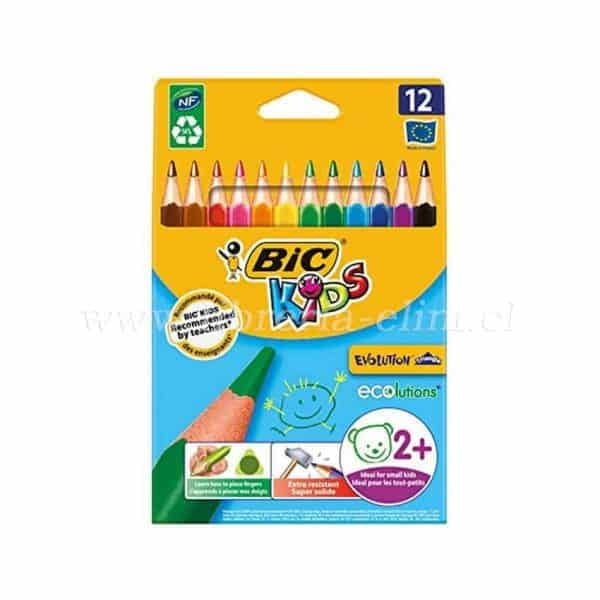 LAPICES JUMBO BIC KIDS EVOLUTION 12 COLORES