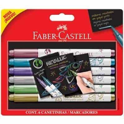 Marcadores metallic brush punta pincel faber castell
