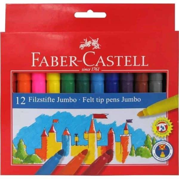 marcadores jumbo faber 12 colores