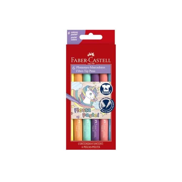 marcadores color pastel faber castell