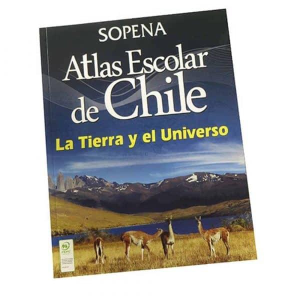 ATLAS ESCOLAR DE CHILE TIERRA Y EL UNIVERSO SOPENA
