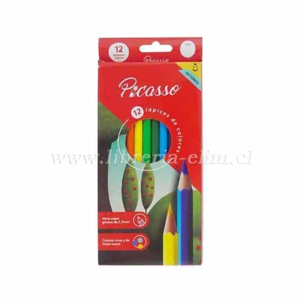LAPICES 12 COLORES PICASSO MINA 3.3mm