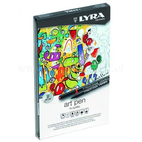 MARCADORES LYRA ART PEN 10 COLORES HI-QUALITY