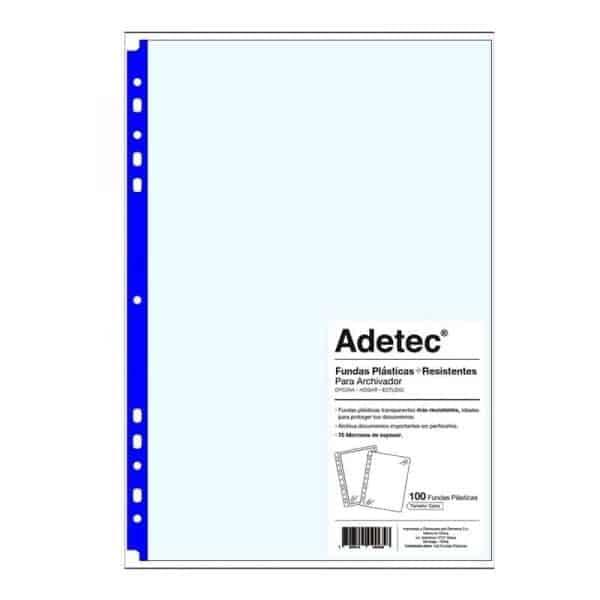 FUNDA PLASTICA CARTA BORDE AZUL ADETEC 9065