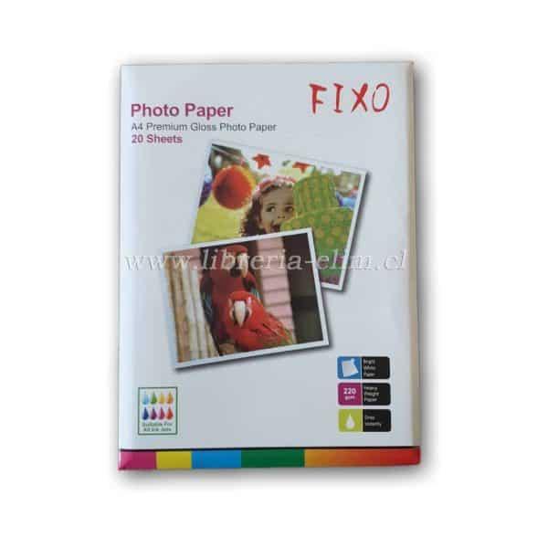 papel fotografico a4 220 gramos fixo