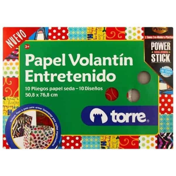 PAPEL VOLANTIN ENTRETENIDO TORRE