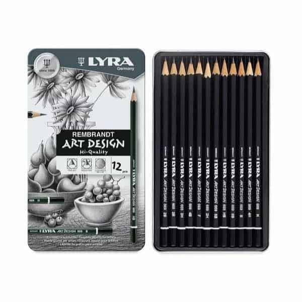 LYRA REMBRANDT ART DESING SET 12 GRAFITOS LATA