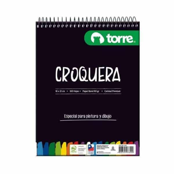 CROQUERA 16X21 CM 100H - 80G TORRE IMAGIA 17876