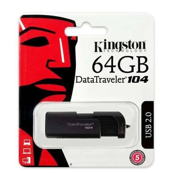PENDRIVE 64GB KINGSTON DATA TRAVELER 104
