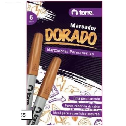 MARCADOR DORADO TORRE