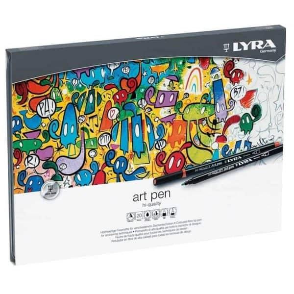 MarcadoresLyra Art Pen set 20 colores